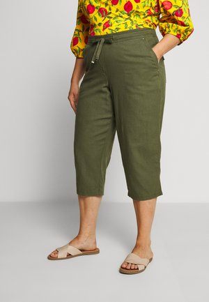 BLEND CROPPED TROUSER - Trousers - khaki