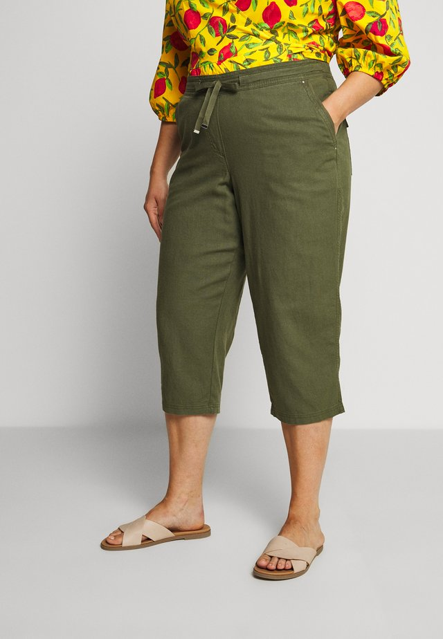 BLEND CROPPED TROUSER - Trousers - khaki