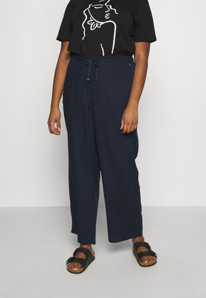 REGULAR BLEND TROUSER - Trousers - navy