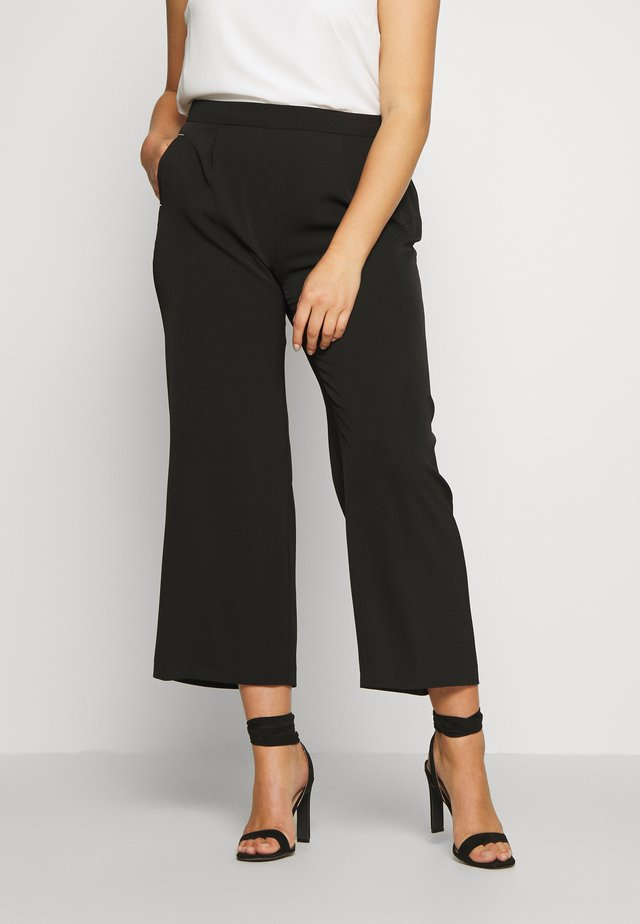 SMART WIDE LEG TROUSER - Trousers - black