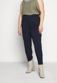 Evans - TAPERED TROUSER - Trousers - navy - 0