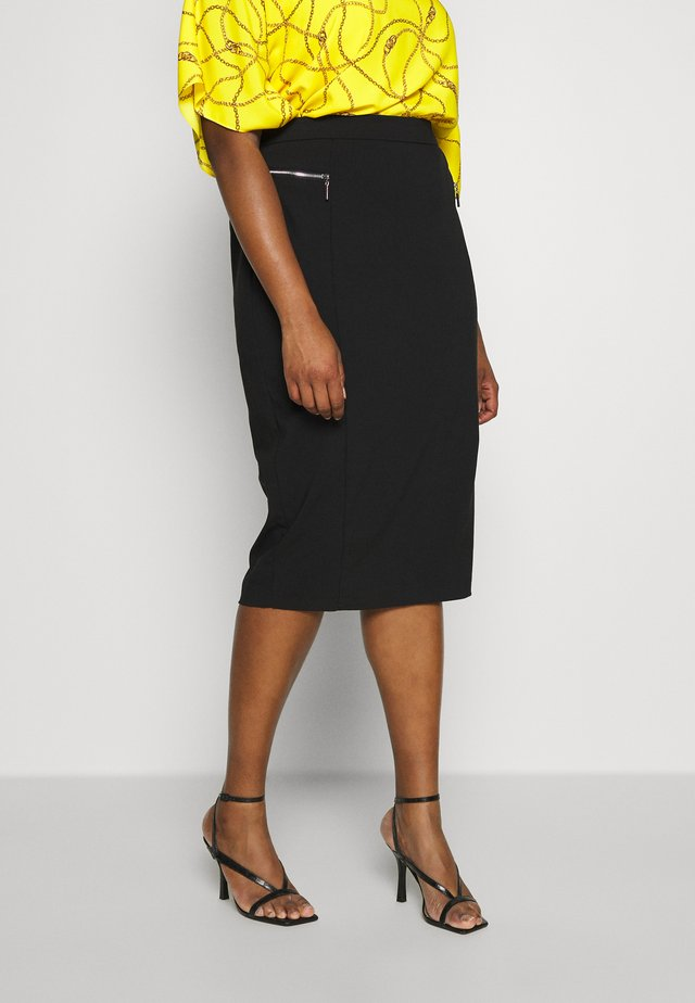 BENGALINE SKIRT - Pencil skirt - black