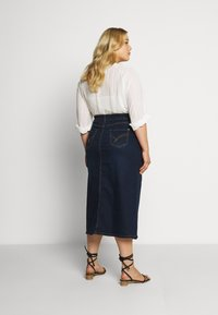 Evans - MIDI SKIRT WITH ELASTICATED BACK WAISTBAND - A-Linien-Rock - indigo - 2