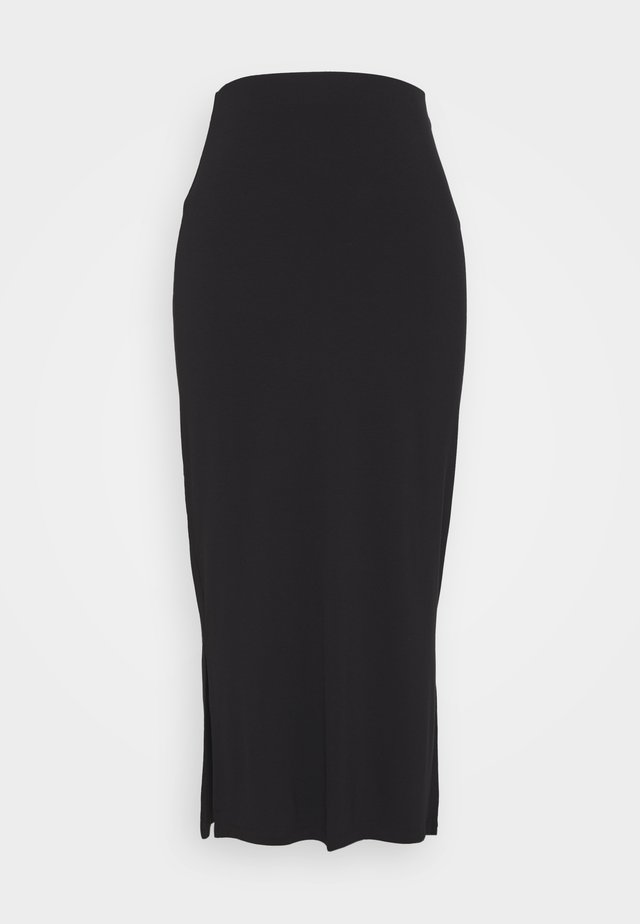 BLACK SIDE SPLIT MAXI SKIRT - Długa spódnica - black
