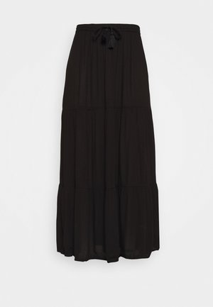 TIERED MAXI SKIRT - Maxi skirt - black