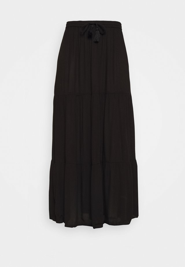 TIERED MAXI SKIRT - Maxirock - black