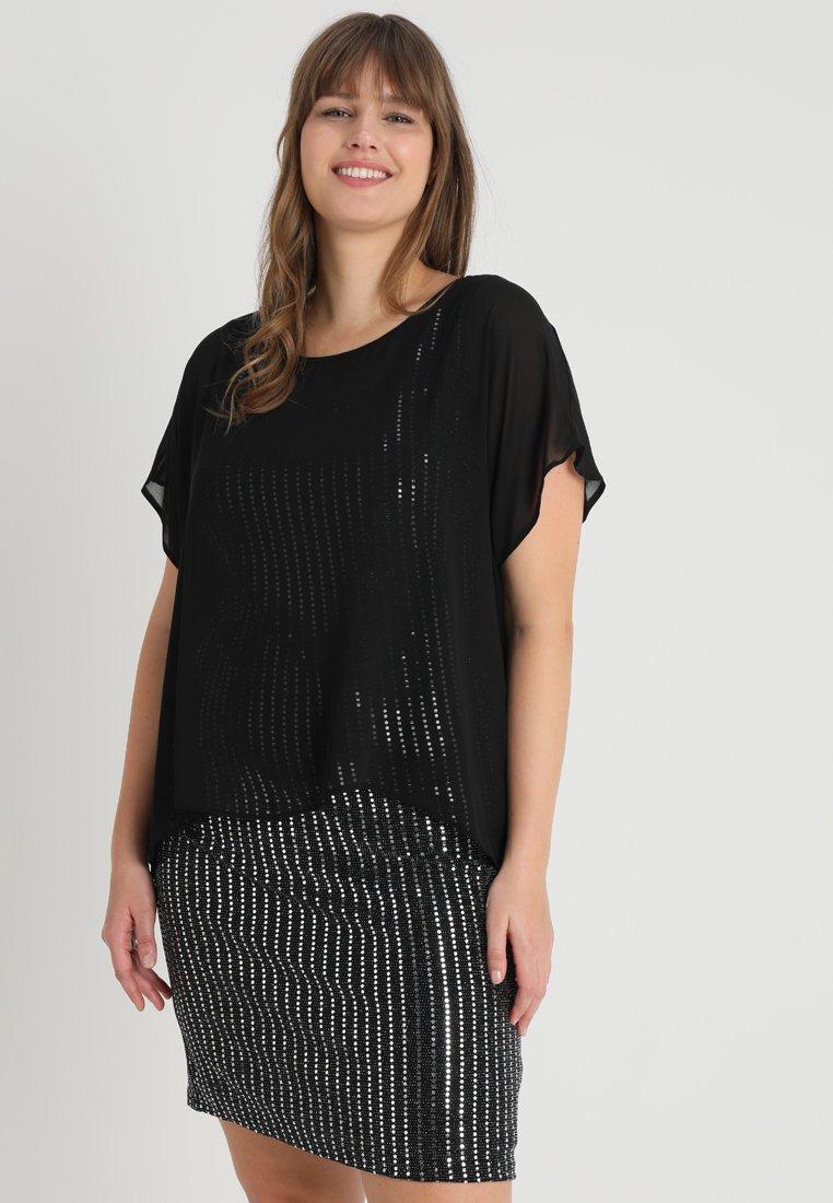 Evans - BRILLO OVERLAY DRESS - Vestido ligero - black
