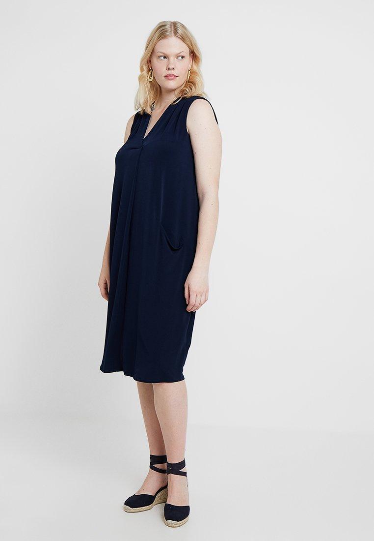 Evans - SLEEVELESS POCKET DRESS - Jerseyjurk - navy blue