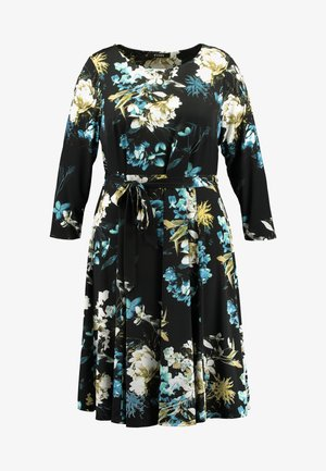 FLORAL FIT AND FLARE DRESS - Jerseyjurk - multi