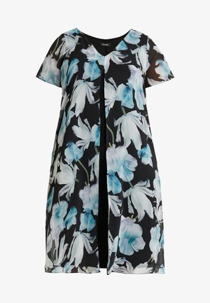 FLORAL SPLIT FRONT MIDI DRESS - Korte jurk - multi