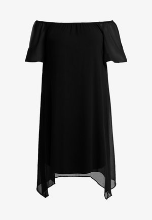 SPOT BARDOT DRESS - Day dress - black