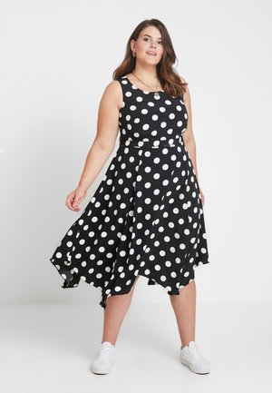 SPOT HANKY HEM - Korte jurk - black