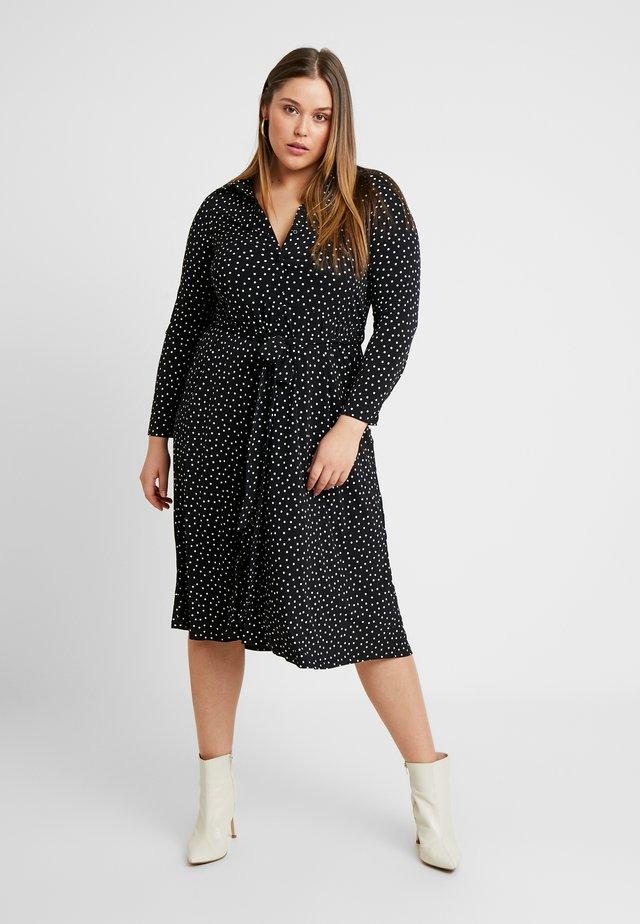 SPOT DRESS - Skjortklänning - black
