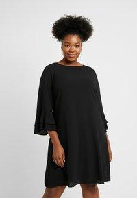 Evans - FRILL SLEEVE DRESS - Vestido informal - black - 0
