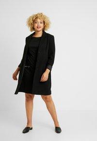 Evans - ZIP SHIFT DRESS - Jerseyjurk - black - 2