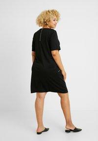 Evans - ZIP SHIFT DRESS - Jerseyjurk - black - 3