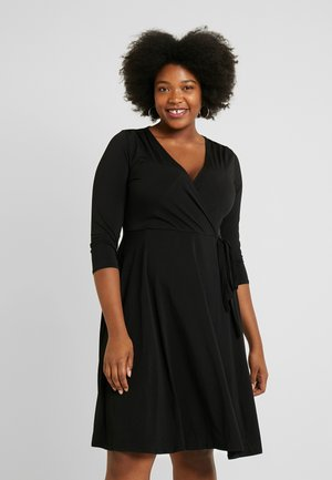 WRAP DRESS - Trikoomekko - black