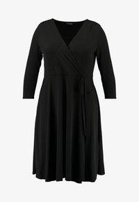 Evans - WRAP DRESS - Robe en jersey - black - 5