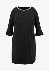 Evans - PEARL TRIM FRILL SLEEVE DRESS - Robe en jersey - black - 4