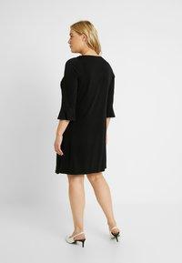Evans - PEARL TRIM FRILL SLEEVE DRESS - Robe en jersey - black - 2