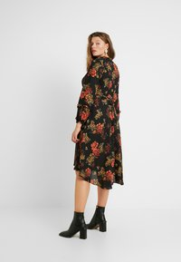 Evans - FRILL NECK  FLORAL DRESS - Denní šaty - multi - 3
