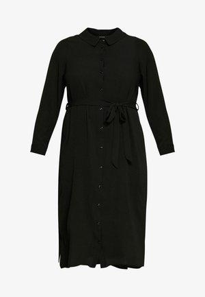 DRESS MIDI - Shirt dress - black