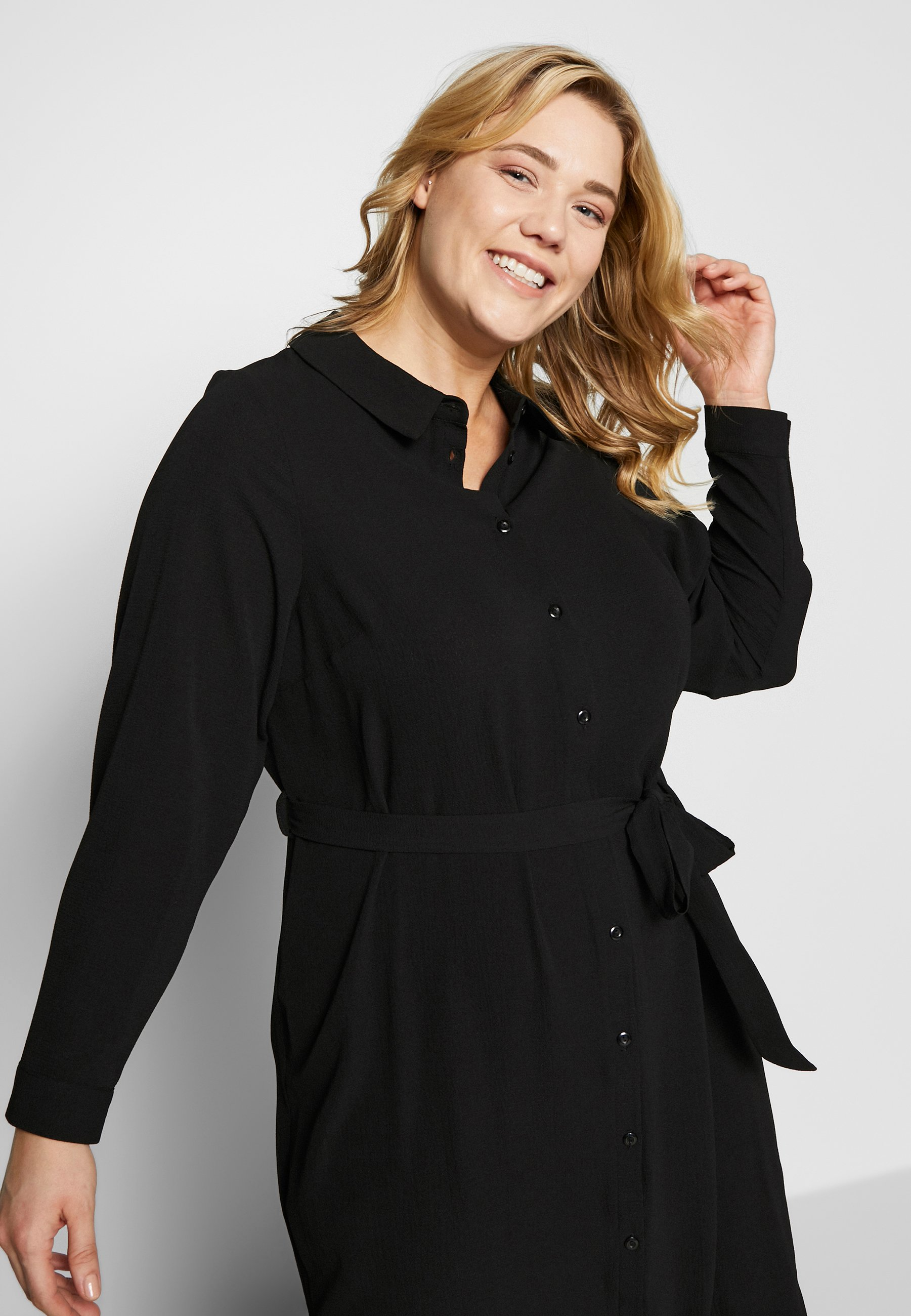 Evans Dress Midi - Robe Chemise Black