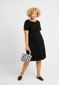 Evans - FIT AND FLARE DRESS - Denní šaty - black - 2