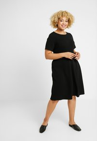 Evans - FIT AND FLARE DRESS - Denní šaty - black - 0
