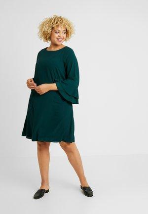 FRILL SLEEVE DRESS - Korte jurk - green