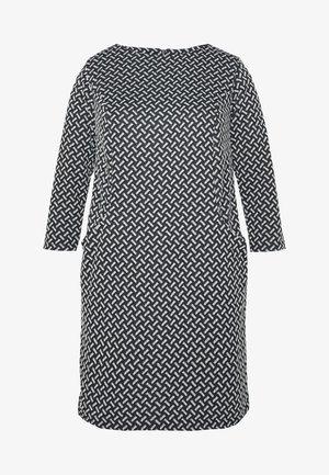 TEXURED PONTE DRESS WITH POCKETS - Pouzdrové šaty - black