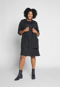 Evans - BUTTON DETAIL DRESS - Robe d'été - black - 1