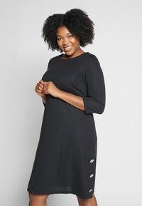 Evans - BUTTON DETAIL DRESS - Robe d'été - black - 0