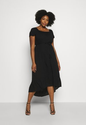 PLAIN SQUARE NECK GYPSY - Korte jurk - black