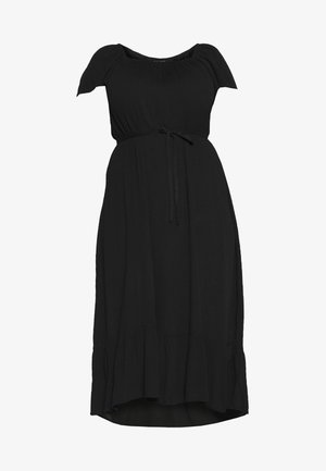 PLAIN SQUARE NECK GYPSY - Vestido informal - black