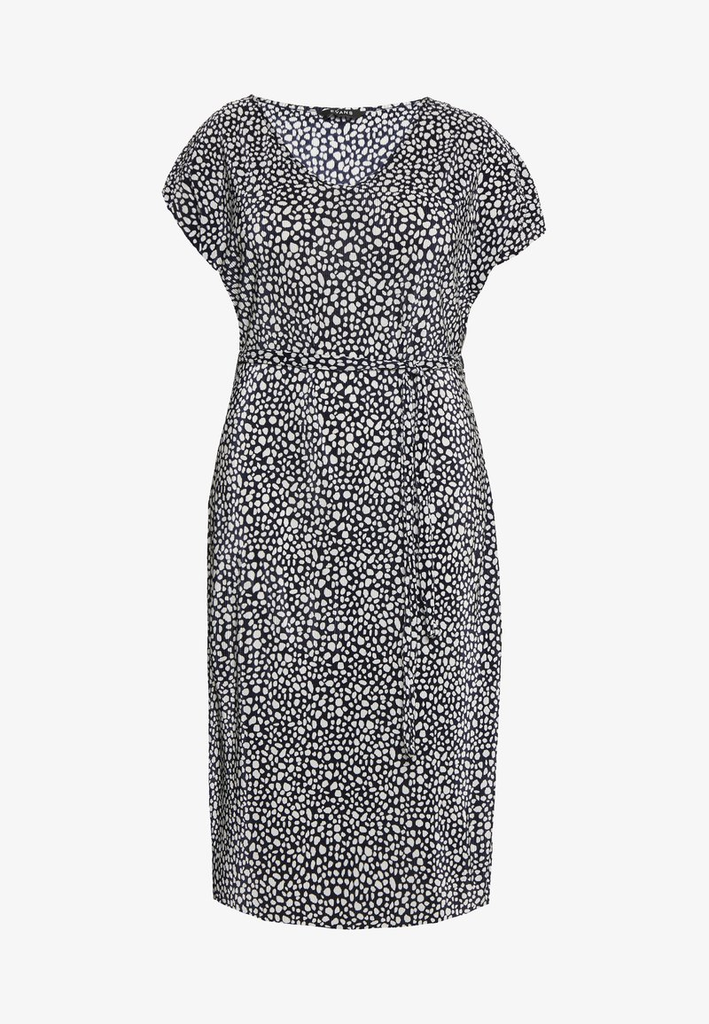Evans - NAVY AND WHITE PLEATED DRESS - Day dress - dark blue/white