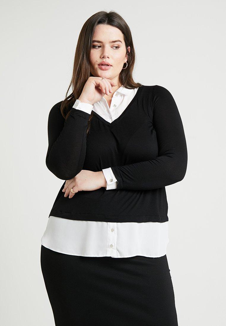 Evans - Langarmshirt - black/white