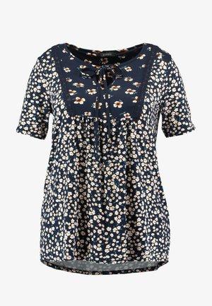 FLORAL PRINT - T-shirt imprimé - navy