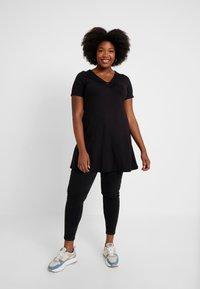 Evans - RING DETAIL - Print T-shirt - black - 1