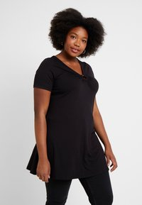 Evans - RING DETAIL - Print T-shirt - black - 0