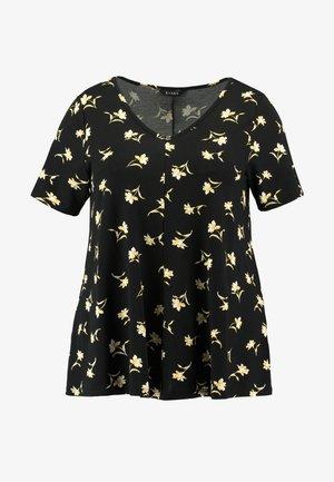 FLORAL SHORT SLEEVE - T-shirt print - black