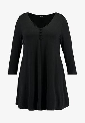 BUTTON DETAIL SWING TUNIC - Camiseta de manga larga - black