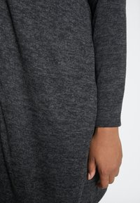 Evans - CHARCOAL SOFT TOUCH CARDIGAN - Vest - grey - 5