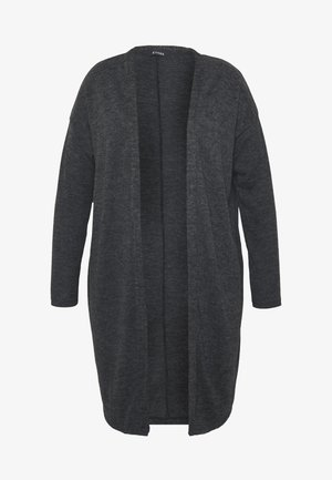 CHARCOAL SOFT TOUCH CARDIGAN - Cardigan - grey