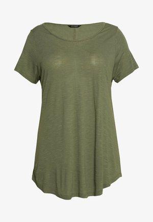 SCOOP NECK - Basic T-shirt - khaki