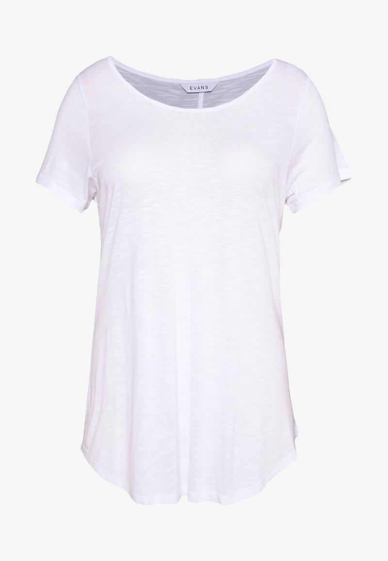 Evans - SCOOP NECK - T-shirts basic - white