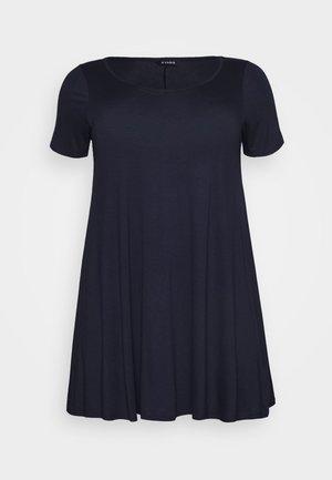 V NECK SHORT SLEEVE SWING  - T-shirt imprimé - navy