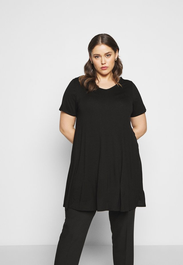 VNECK SHORT SLEEVE SWING  - T-shirt basique - black