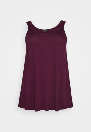 BRY PLAIN KNOT VEST   - Top - red