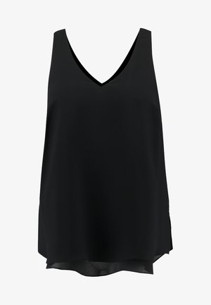 DOUBLE LAYER CAMI - Blouse - black